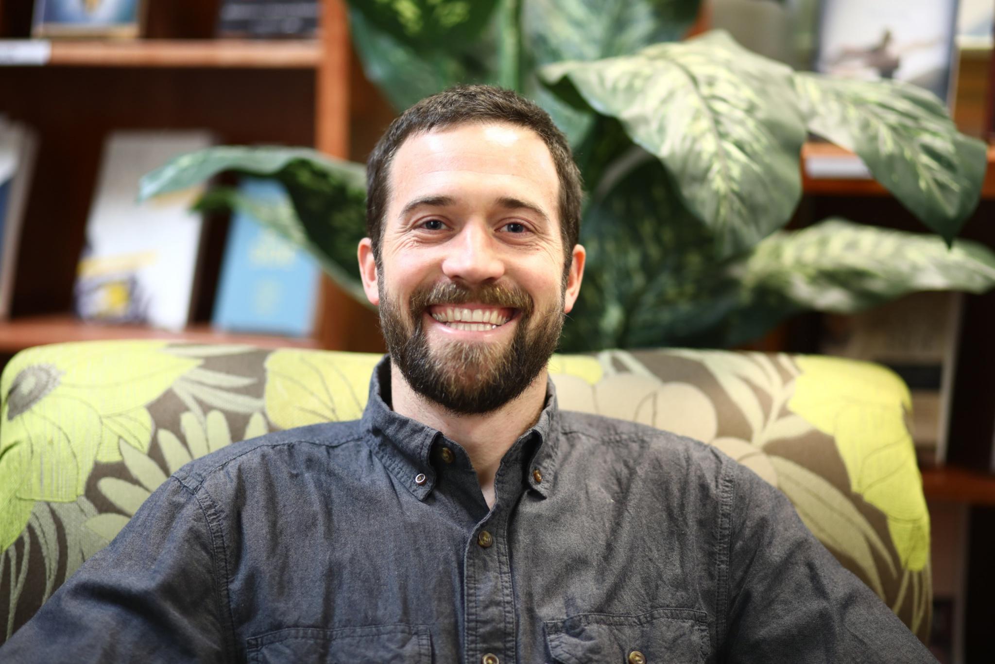A portrait picture of Josh Edmonds in the resource center