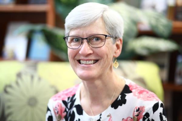 A portrait picture of Sue Klosheim in the resource center