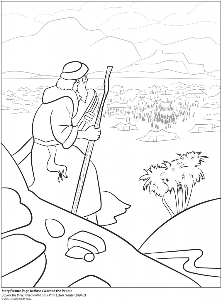 Coloring page for Lesson #8 of Chapel Kids Winter 2020-21